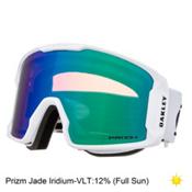 Oakley Line Miner Prizm Goggles, Matte White-Prizm Jade Iridium, medium