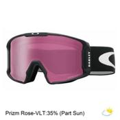 Oakley Line Miner Prizm Goggles, Matte Black-Prizm Rose Iridium, medium