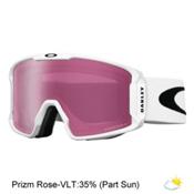 Oakley Line Miner Prizm Goggles, Matte White-Prizm Rose Iridium, medium
