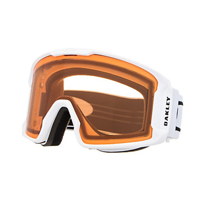 Oakley Line Miner Goggles, Matte White-Persimmon, viewer