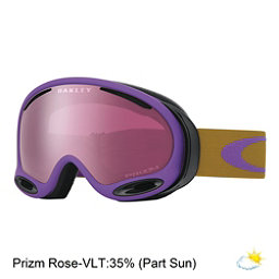 Oakley A Frame 2.0 Prizm Goggles, Burnished Purple-Prizm Rose Iridium, 256
