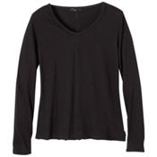 Prana Romina Womens Shirt, Black, medium