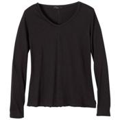 Prana Romina Womens Shirt, Black, medium