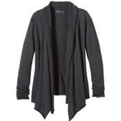 Prana Georgia Wrap Womens Sweater, Charcoal, medium