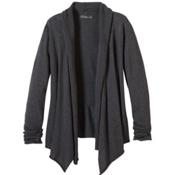 Prana Georgia Wrap Womens Sweater, Charcoal, medium