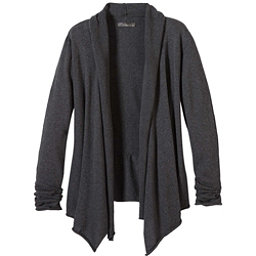 Prana Georgia Wrap Womens Sweater, Charcoal, 256