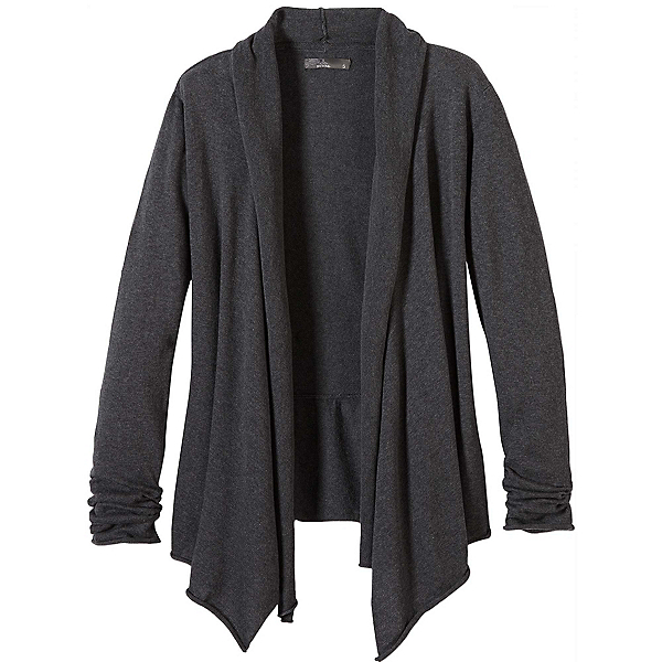 Prana Georgia Wrap Womens Sweater, Charcoal, 600