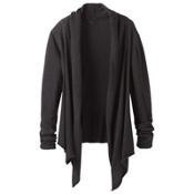 Prana Georgia Wrap Womens Sweater, Black, medium