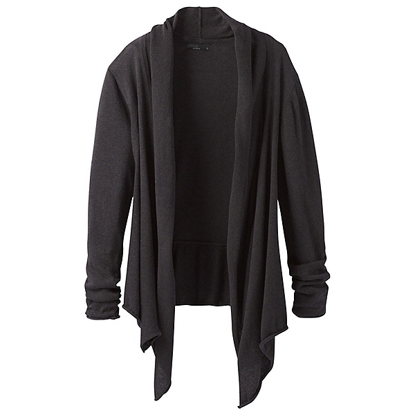 Prana Georgia Wrap Womens Sweater, Black, 600