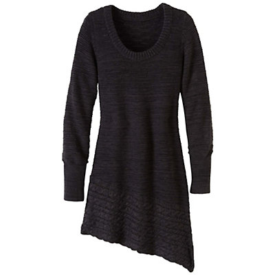 Prana Felicia Tunic Womens Sweater, Coal, viewer