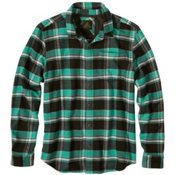 Prana Channing Flannel Mens Shirt, Dark Olive, medium
