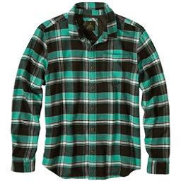 Prana Channing Flannel Mens Shirt, Dark Olive, 256