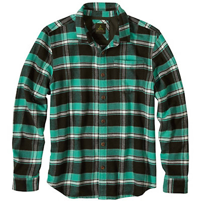 Prana Channing Flannel Mens Shirt, Dark Olive, viewer