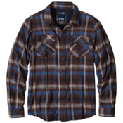 Prana Asylum Flannel Mens Shirt, Raisin, medium