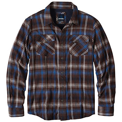 Prana Asylum Flannel Mens Shirt, Raisin, viewer