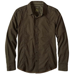 Prana Lukas Slim Mens Shirt, Dark Olive, 256