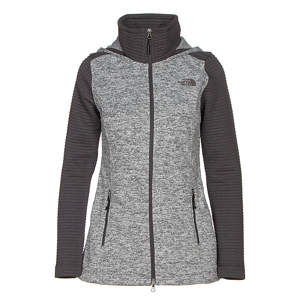 The North Face Indi Hoodie Parka (Previous Season), Lunar Ice Grey Heather-Asphalt, 600