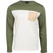 United By Blue Standard Long Sleeve Colorblock Pocket Mens Shirt, Olive, medium