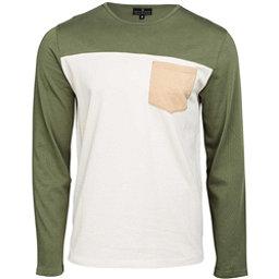 United By Blue Standard Long Sleeve Colorblock Pocket Mens Shirt, Olive, 256
