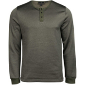 United By Blue Standard Long Sleeve Henley Mens Shirt, Olive, medium