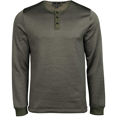 United By Blue Standard Long Sleeve Henley Mens Shirt, Olive, viewer