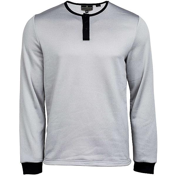 United By Blue Standard Long Sleeve Henley Mens Shirt, Grey, 600