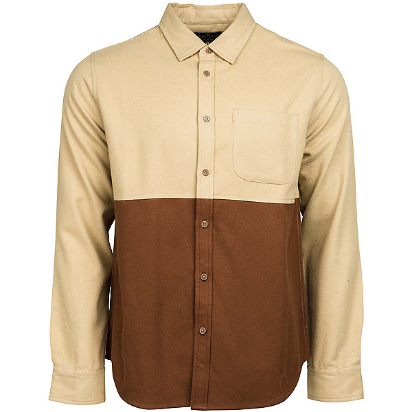 United By Blue Banff Colorblock Wool Mens Shirt, Tan-Brown, 600