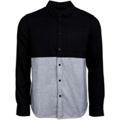 United By Blue Banff Colorblock Wool Mens Shirt, Black-Grey, medium