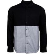 United By Blue Banff Colorblock Wool Mens Shirt, Black-Grey, medium