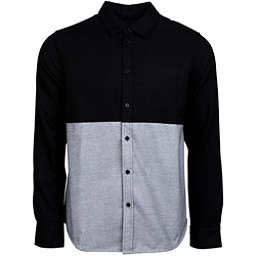 United By Blue Banff Colorblock Wool Mens Shirt, Black-Grey, 256