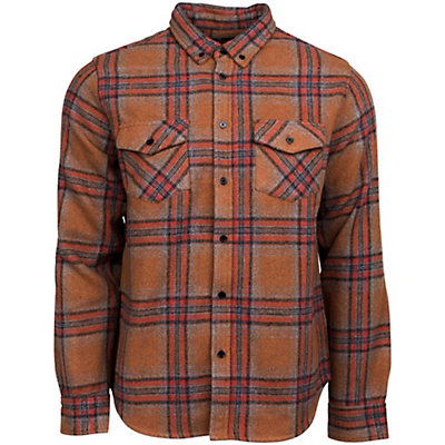 United By Blue Lhotse Wool Plaid Mens Shirt, Nutmeg-Red, viewer