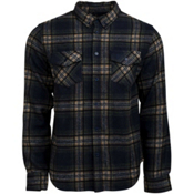 United By Blue Lhotse Wool Plaid Mens Shirt, Navy-Tan, medium