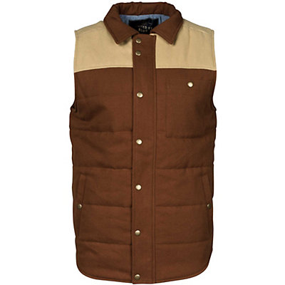 United By Blue Drummond Colorblock Mens Vest, Tan-Brown, viewer