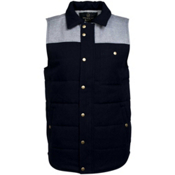 United By Blue Drummond Colorblock Mens Vest, Grey-Navy, medium