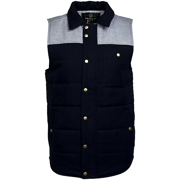 United By Blue Drummond Colorblock Vest, Grey-Navy, 600