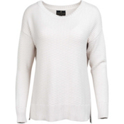 United By Blue Himley Waffle Womens Sweater, Moonbeam, medium