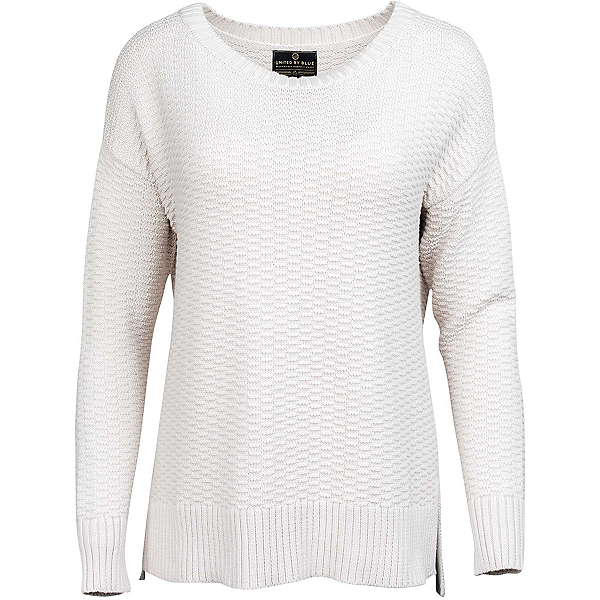 United By Blue Himley Waffle Womens Sweater, Moonbeam, 600