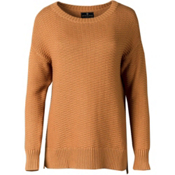 United By Blue Himley Waffle Womens Sweater, Nutmeg, medium