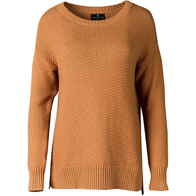 United By Blue Himley Waffle Womens Sweater, Moonbeam, viewer