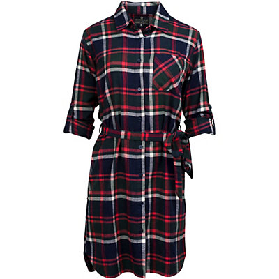 United By Blue Murray Plaid Womens Dress, Navy-Red, viewer