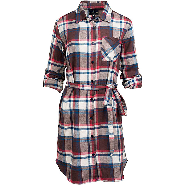 United By Blue Murray Plaid Dress, Brown-Red, 600