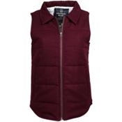 United By Blue Martel Wool Vest Womens Vest, Oxblood, medium