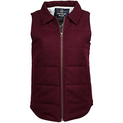 United By Blue Martel Wool Vest Womens Vest, Oxblood, viewer