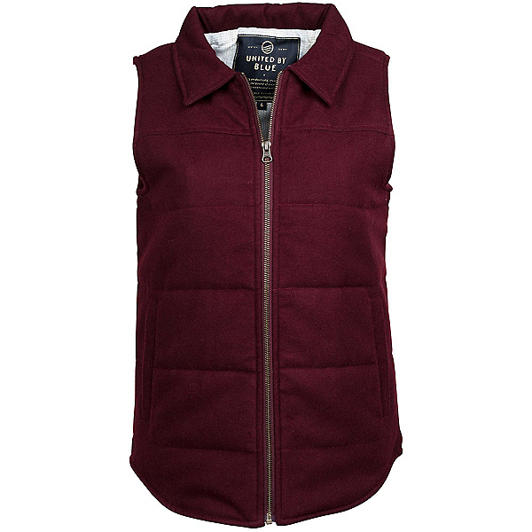 United By Blue Martel Wool Vest Womens Vest, Oxblood, 600