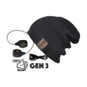BE Headwear 24/7 Bluetooth Hat, Ink Black, medium