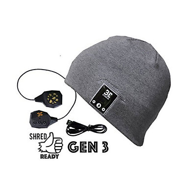 BE Headwear Justright Bluetooth Hat, Heather Grey, viewer