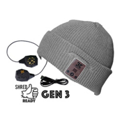 BE Headwear Diver Down Bluetooth Hat, Ash Grey, medium