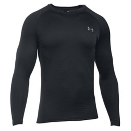 Under Armour Base 2.0 Mens Long Underwear Top, Black-Steel, 256