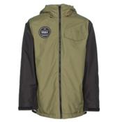 ThirtyTwo Sesh Mens Shell Snowboard Jacket, Olive, medium