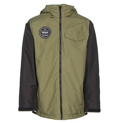 ThirtyTwo Sesh Mens Shell Snowboard Jacket, Olive, viewer